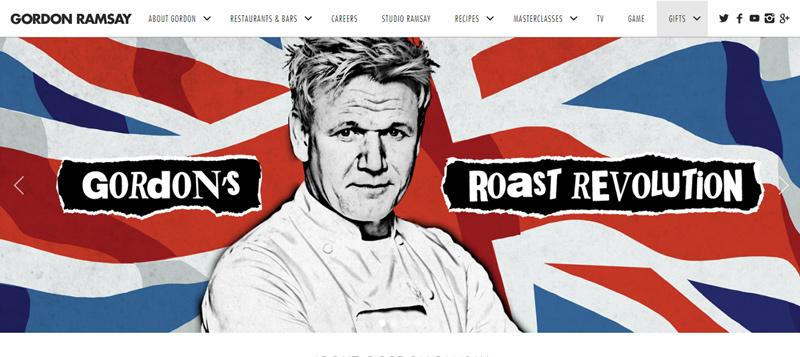 GordonRamsay.com website - Personal Branding Example