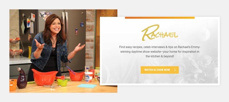 RachelRay.com website - Personal Branding Example